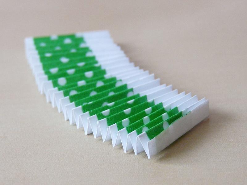 papírová rozeta s washi páskou