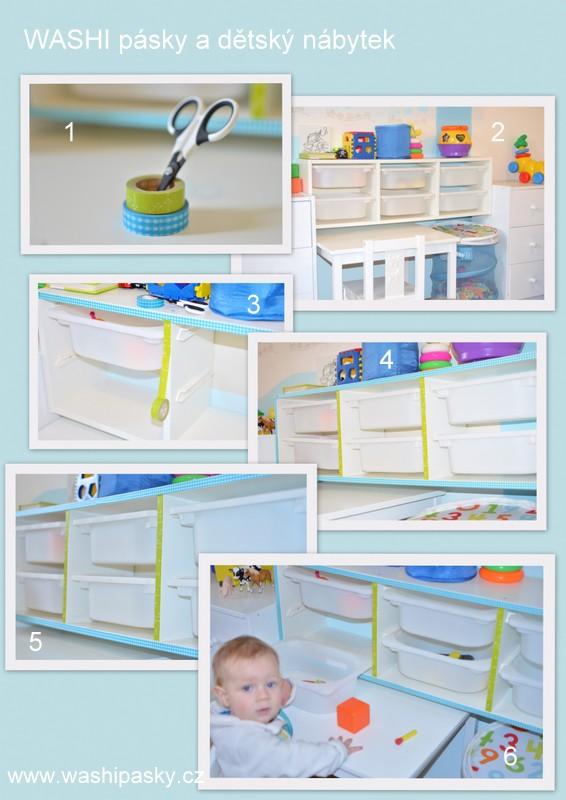 Washi pásky a dětský nábytek